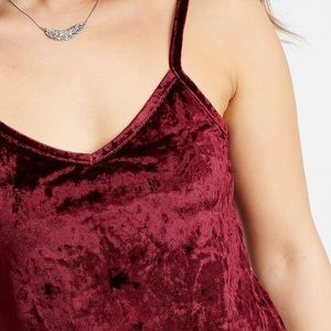 Maurices crushed velvet cami